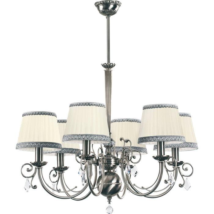 Bespoke Lighting COCO nickel chandelier 6 lights with Swarovski crystals