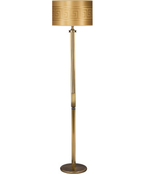 versace floor lamp DECOR in antique brass with gold lamp shade