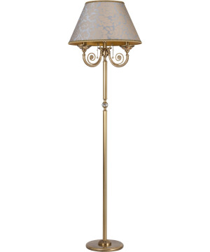 Bespoke lighting BIBIONE traditional brass floor lamp 3 lights with crystals