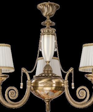 Brass Luxury Chandelier 3 Arms Bibione II Swarovski Crystals Pendant Light