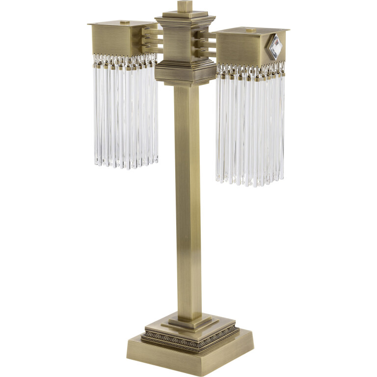 Bespoke lighting CARINO brass table lamp with 2 glass shades