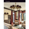 Brass Luxury Chandelier 6 Arms Casamia Fabric Shade Pendant Light Inspiration