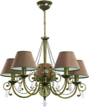 Bespoke Lighting COCO old brass chandelier brown shades and Swarovski crystals
