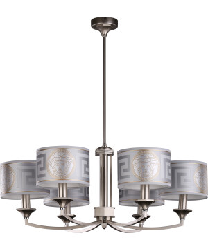 versace ceiling light DECOR brass chandelier with silver shades