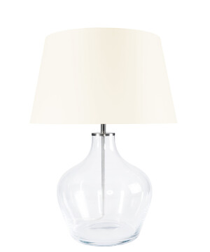 Glass Table Lamp MAD Beige Shade-0