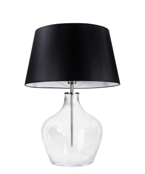 Glass Table Lamp MAD Black Shade-0