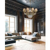 lounge idea with crystals chandelier FONTANA 12 light