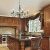kitchen ideas with Vintage chandelier LUCA brass 6 light with Swarovski crystals