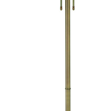 Lido Brass Single Pool and Snooker Lighting Lido Floor Lamp Green Billiard Standing Floor Light Glass Shade