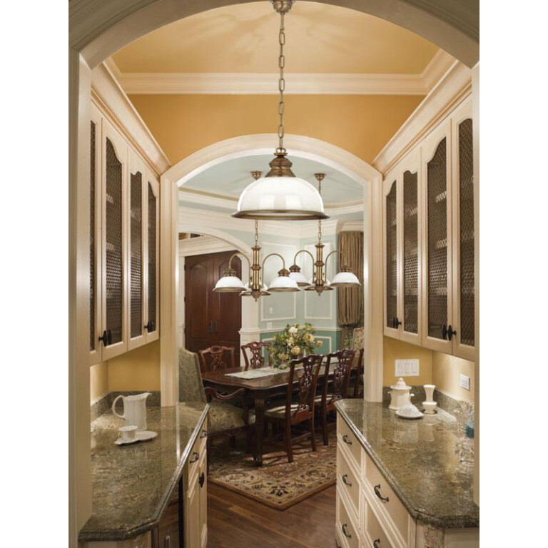 dining room ideas with brass pendant light LIDO