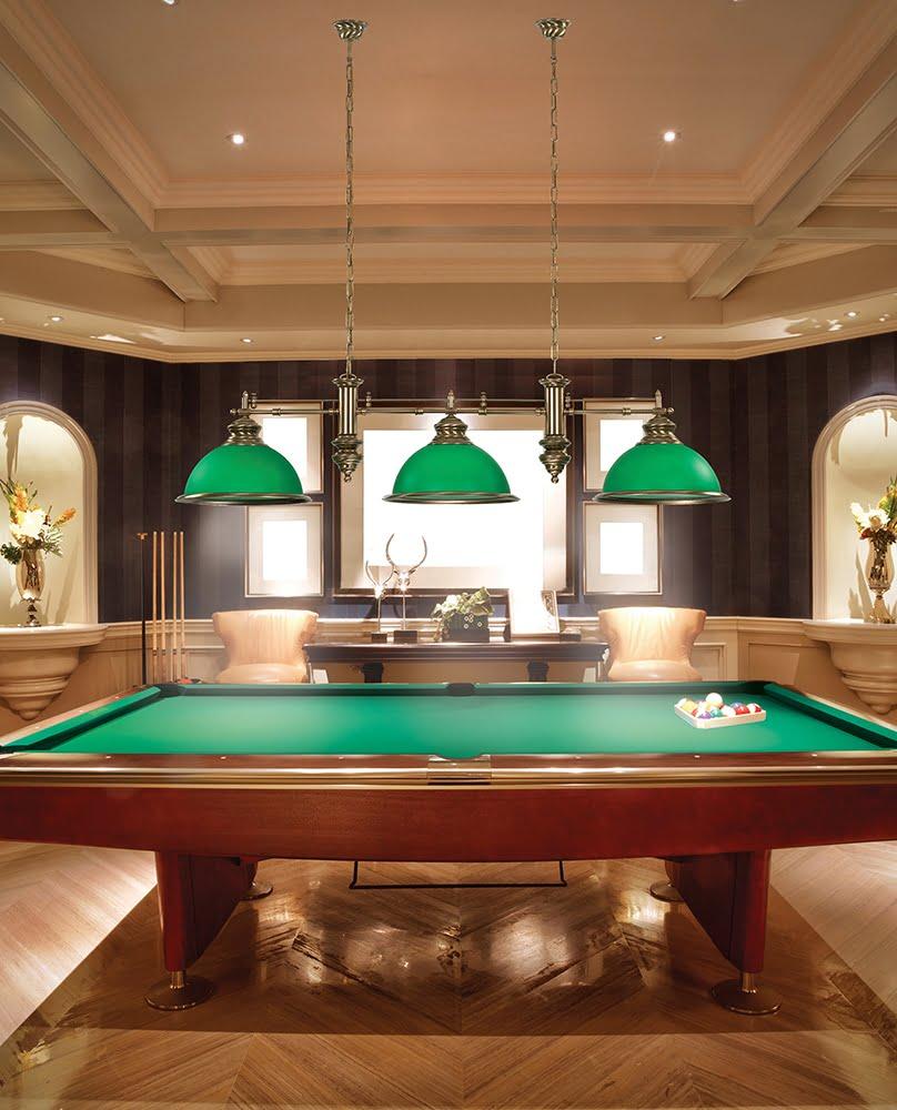Brass Pool Table and Snooker Lighting Lido Bar Ceiling Pendant 4 Light Green Billiard Lamp Glass Shade INspiration