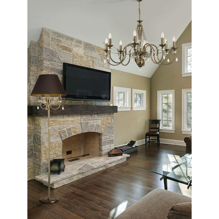 living room ideas with antique chandelier LUCA 8 light