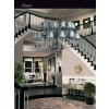 Candle Style Large Luxury Chandelier 24 Arms LUCA Swarovski Crystals Fabric Shade Double Tier Inspiration