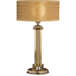 Traditional brass table lamp DECOR with Versace shade and Swarovski Crystals
