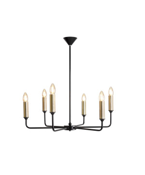 Classic Candle Style Chandelier 6 Lights Aurora Gold