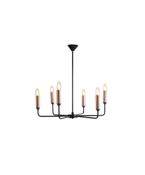 Classic Candle Style Chandelier 6 Lights Aurora Copper