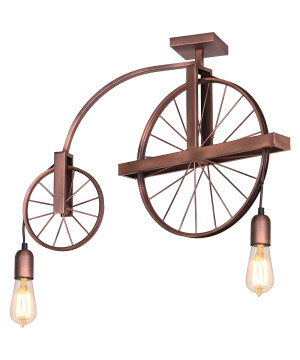 copper BANG MIN Wheel Pendant Light Industrial Design