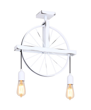 Modern white wheel Pendant 2 Lights BANG MINI minimalist lamp