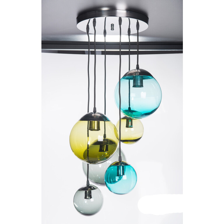 Pendant Light Semi Flush Ceiling Lights BACAN Glass Lamp Shade