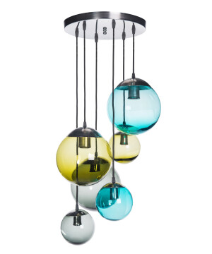 Pendant Light Semi Flush Ceiling Lights BACAN Glass Lamp Shade