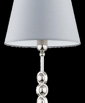 Stylish Nickel Brass Table Lamp SARA Fabric Lamp Shade