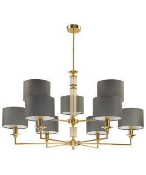Artu Brass Chandelier 9 Arms Glass Ceiling Pendant Lights