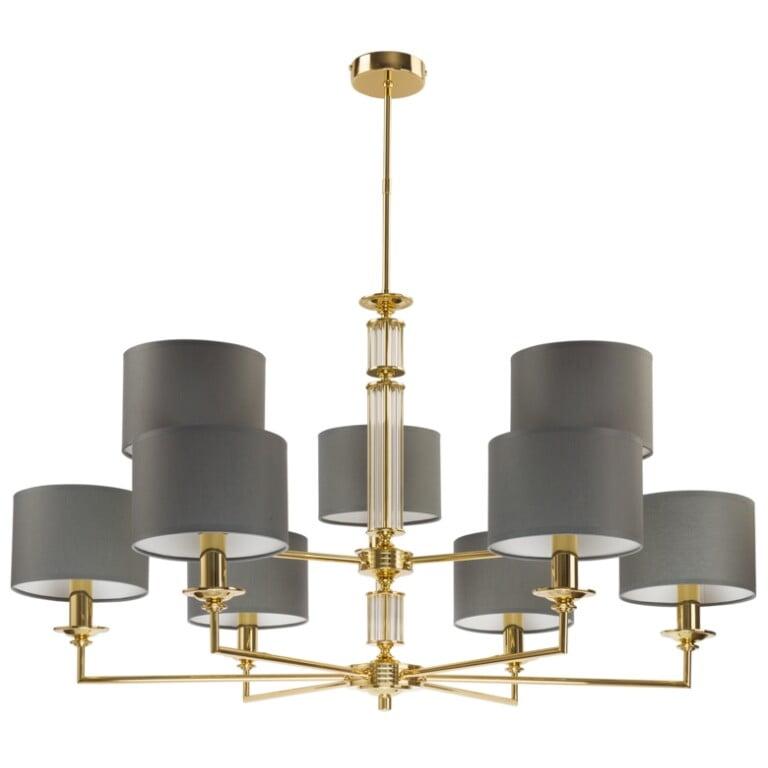 Lighting Room Artu 9 Light Double Tier Chandelier Gold Luxury Chandelier