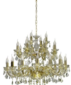 Luxury Crystal Chandelier Maria Teresa 28 Lights Gold Luxury Chandelier with Crystals