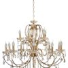 Aurora Traditional Luxury Chandelier with Crystals 15 Lights Classic Gold