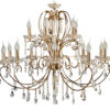 Aurora Traditional Luxury Chandelier with Crystals 15 Lights Classic Gold zoom