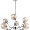 Best Designer Lamp 8 Lights Pendant Lighting Chrome Glass Lamp Shades