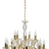 Luxury Crystals Chandelier Maria Theresa 15 Lights Gold Classic Chandelier with Crystals