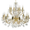 Classic Chandelier with Crystals Maria Theresa 18 Lights Gold Luxury Chandeliers UK zoom