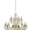 Classic Chandelier with Crystals Maria Theresa 18 Lights Gold Luxury Chandeliers UK