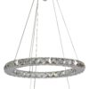 LORDS Modern Crystal Circular Double Pendant Light 40 27W LED Lamps RGB Chrome with Remote Control