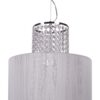 Designer crystal Pendant 3 Lights SECESSION with white Fabric Shade