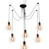 Spider Web 6 Lights Pendant Lighting Gold Lamp Shades VERIN