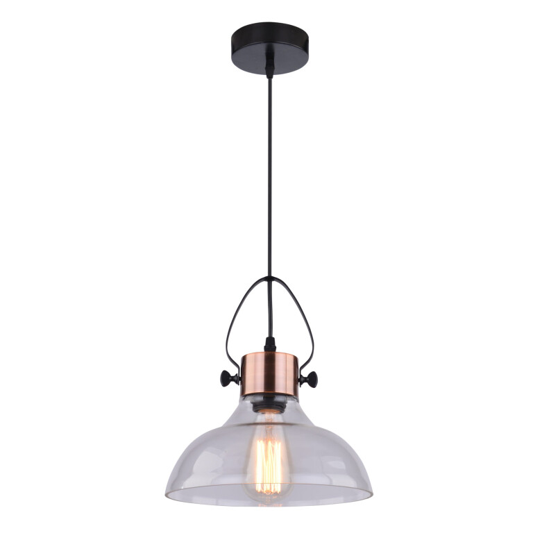 Vintage Style Copper Single Pendant Lighting Glass Lamp Shade VIDEO