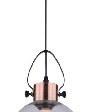 Vintage Style Copper Single Pendant Lighting with Glass Lamp Shade Edison BULB VIDEO