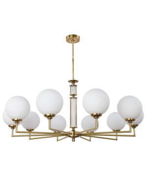 Designer Lamp ARTU gold chandelier 10 light