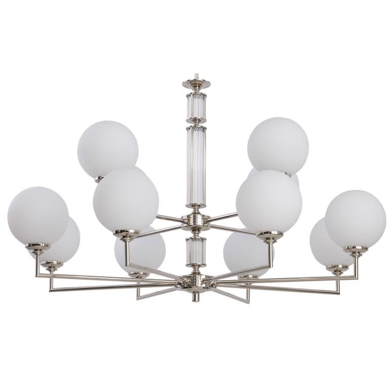 Artu Glass Brass Lighting Luxury Chandeliers 12 Armed Glass Lamp Shades Designer Lamp zoom