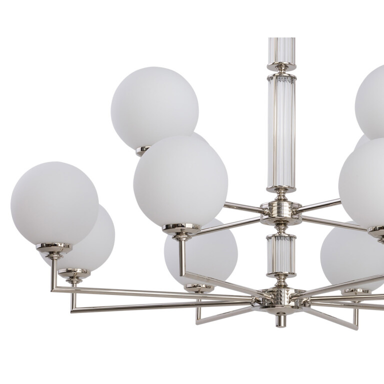 Artu Glass Brass Lighting Luxury Chandeliers 12 Armed Glass Lamp Shades Designer Lamp zoom2