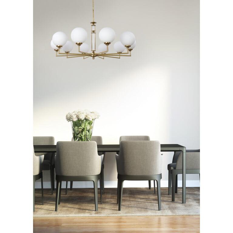 Artu Glass Designer Lamp Luxury Chandeliers 10 Armed Glass Lamp Shades Brass Lighting inspiration