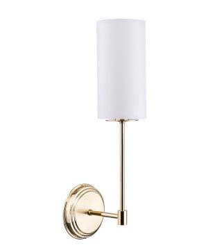 BELEZA Designer Luxury Wall Light Brass Lighting Wall Sconce Fixture Fabric Lamp Shade