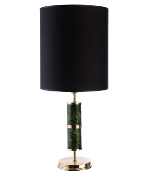 Lighting room BELEZA designer luxury table lamp in gold with black shade