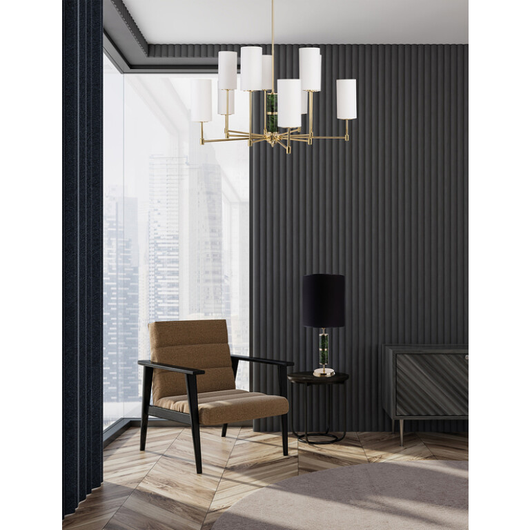 Beleza Designer Luxury Chandelier 10 Armed Brass Lighting Fabric Lamp Shades inspiration