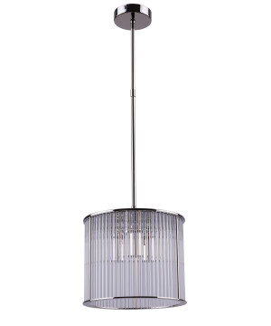 Lighting room CERO luxury pendant light with glass shade in nickel