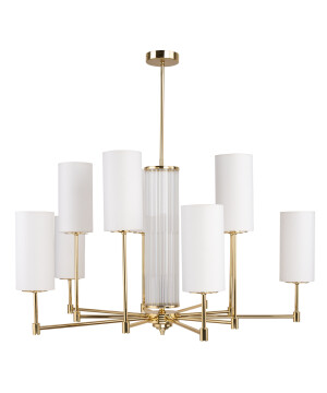 Lighting room EMPOLI modern 10 light chandelier in gold
