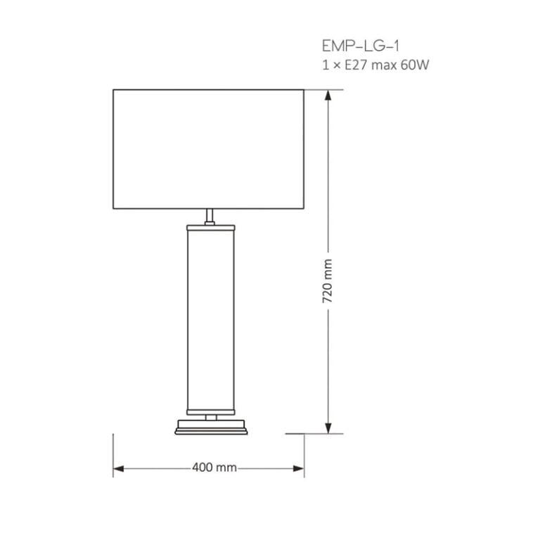 drawing EMPOLI Designer Luxury Table Lamp Brass Lighting Black White Fabric Lamp Shade Glass Elements Nickel Patina Gold