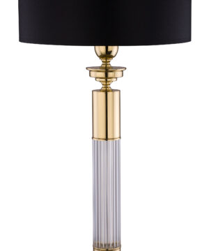VERDE Luxury Table Lamp Brass Lighting Black White Fabric Coolie Lamp Shade
